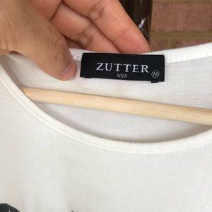 zutter Tops - Zutter Sleeveless White Tank Top